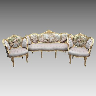 Beautiful complete Corbeille Louis XVI Living Room Set