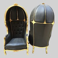 Pair of 2 Louis XVI Balloon Chairs worldwide free shipping
