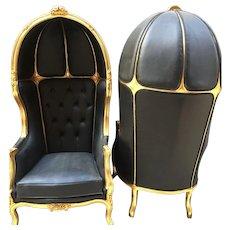Pair of 2 Louis XVI Balloon Chairs;FREE SHIPPING within USA