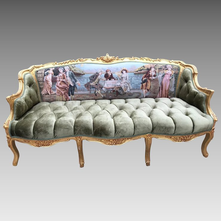 French Louis Xvi Sofa Settee Couch Free Shipping Within Usa