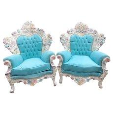 Two (pair) Unique Italian Baroque Chairs