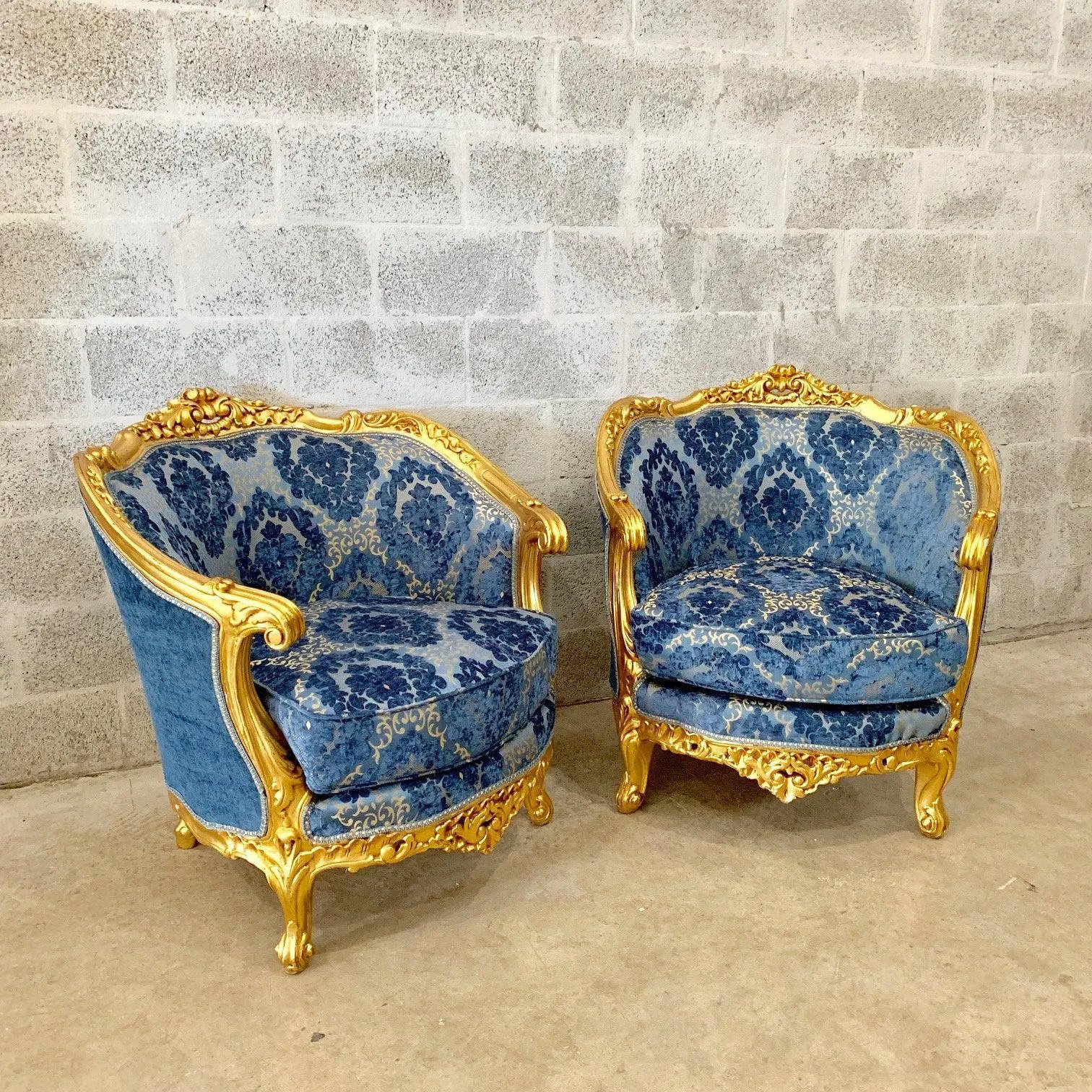 French Louis XVI Living Room Set (Sofa and Two Chairs ...
