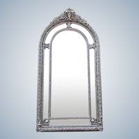 Silver Louis XVI Style Mirror