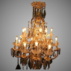 Louis XV Style Gilded Bronze French Chandelier