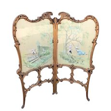 Antique Room Divider, Handpainted and Signed by A. Buccini. FREE WORLDWIDE SHIPPING