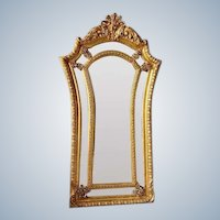 Louis XVI French Mirror with Gold Leaf