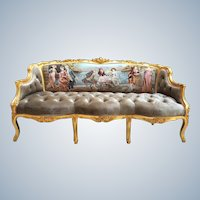 French Louis XVI Style Sofa / Settee/ Couch