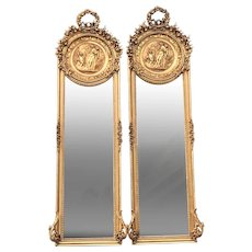 Louis XVI French Mirrors- a pair. Worldwide shipping