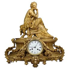 Antique Louis XVI style table/mantel clock