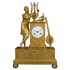 Antique Bronze Empire Mantel/Table Clock 1810