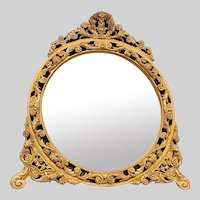 Wall mirror in French Louis XVI style.