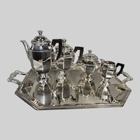 Antique Christofle Silver-Plated Tea Set From 19th Century