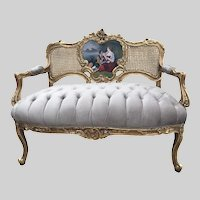 French Louis XVI style settee/couch/sofa