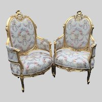Unique chairs in French Louis XVI style
