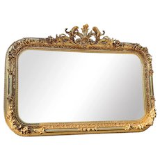 French Wall Mirror in Louis XV Style-worldwide shipping