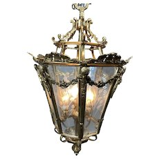 Unique Lantern in French Louis XVI style. Worldwide free shipping