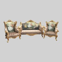 French Louis XVI Sofa/Settee/Couch Set with 2 Chairs