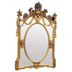 French Wall Mirror in Louis XVI Style