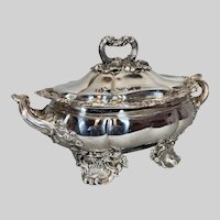 Antique French Silver Plated Coupe Bowl Decorative Piece With Lid - Free Worldwide Shipping