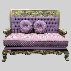 Beautiful Antique Italian Rococo Sofa (settee, love seat, couch) 1840-1860