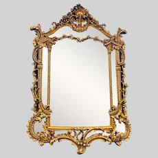 Beautiful Wall Mirror in Italian Baroque Style. Worldwide free shipping