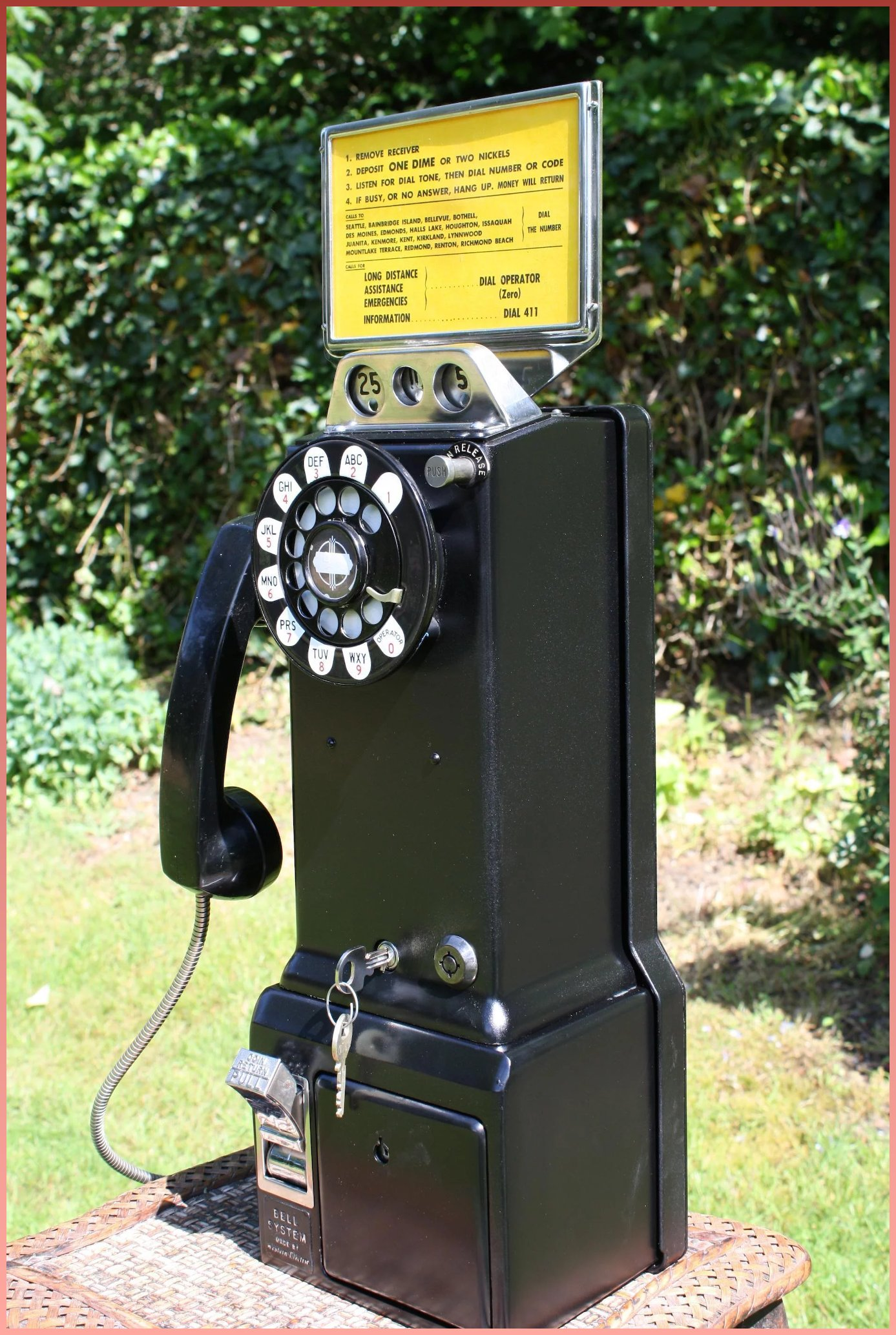 1950 S Western Electric 3 Slot Pay Wall Telephone Ready To