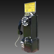 1950's Western Electric 3-Slot Pay Wall Telephone Ready to Use - Bluetooth