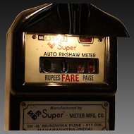 Vintage Auto Rickshaw Taxi Meter Bombay India