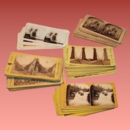 Lot of 87 Stereoview Cards Early 1900's