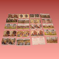 Whiting's Sculptoscope Cards American Indian Set of 20 Cards