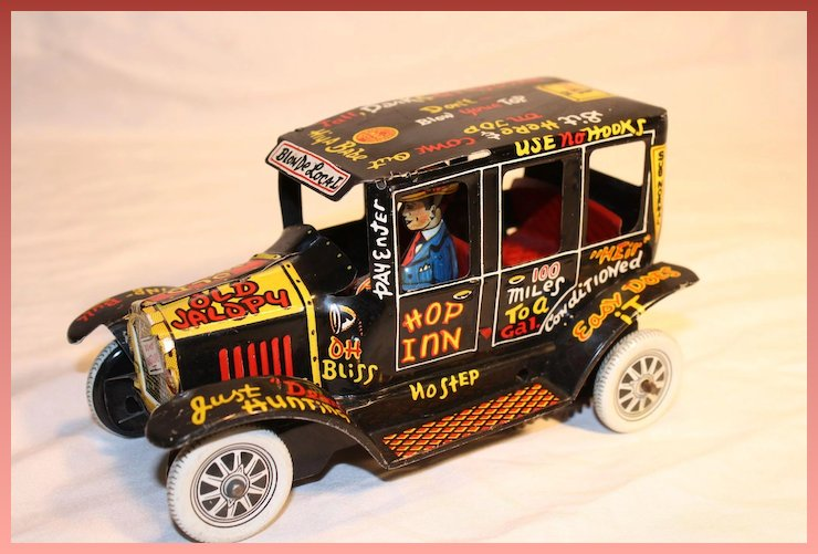 1950\'S Marx Old Jalopy Tin Lithographed Wind Up Toy : Fun ...