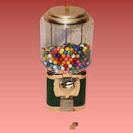 Silent Salesman Gumball Machine with Gumballs 25 cent