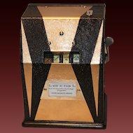 Jennings Win-A-Pack  Bell Trade Stimulator 1930's