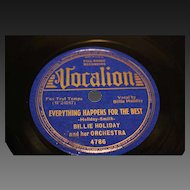 Five  Original Billie Holiday 78 RPM  Vintage Records  1930's