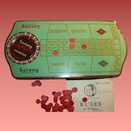 Vintage Roulette Gambling Game Sarony Cigarette Tin  - Excellent