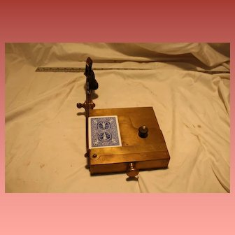 Antique Playing Card Trimmer Brass G. Henry & Co.
