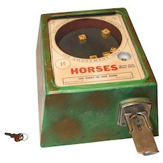 """Horses"" Counter Top Dice Game Trade Stimulator 1940's"