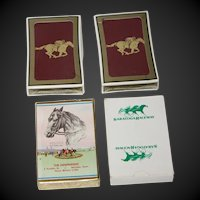 Four Vintage Decks of Horse Race Playing Cards Unused
