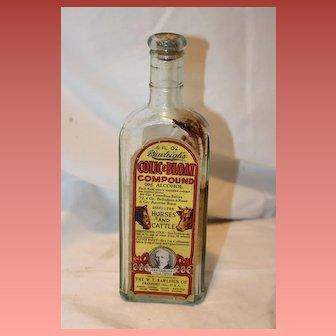 Cannabis Sativa Apothecary Bottle 1900's