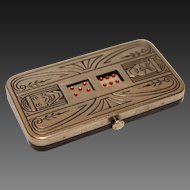 Demley Auto Dice a 1930's Pocket Dice Game Art-Deco