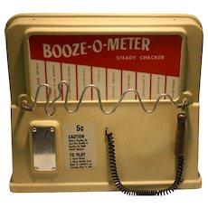 Booze-O-Meter Coin Op  Bar Arcade Game