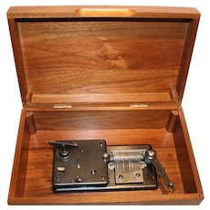 Thorens Swiss Wood Music Box w/ 23 metal Song Discs