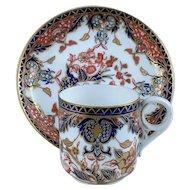 Crown Derby Porcelain Imari Pattern Cup & Saucer c.1904
