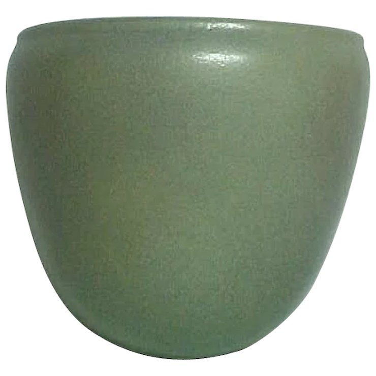 Marblehead Pottery Wall Pocket Vase Matte Gray Htf Clements