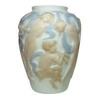 Phoenix Consolidated Glass, Dancing Nudes Satyr Vase