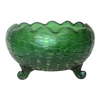 Loetz, Creta Chine Footed Centerpiece Bowl, Impressive