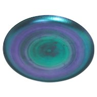 Tiffany Blue Favrile, Charger or Low Center Piece Bowl, Wonderful Iridescence