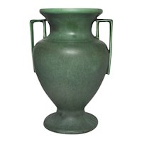 Hampshire Pottery, Buttressed Handled Grecian Urn Vase, Outstanding Form