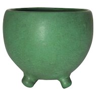 Weller Pottery, Bedford Matt Green Footed Arts and Crafts Jardiniere'