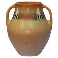 Roseville Pottery, Monticello, Large Double Handled Vase, Outstanding Condition